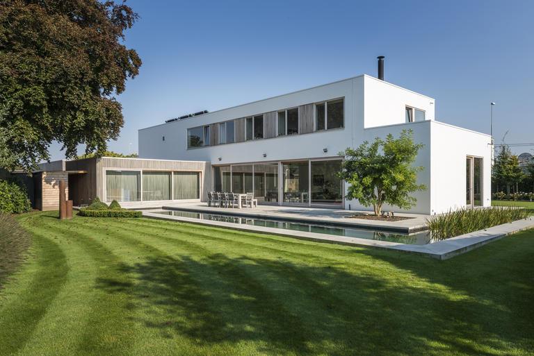 Moderne Tuin Met Zwemvijver Vereecke Lieven
